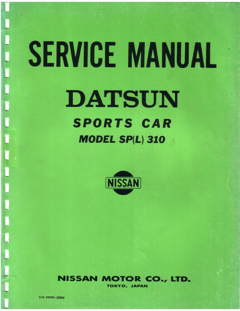 Datsun Sports Spl310 Service Manual Pdf  12 Mb